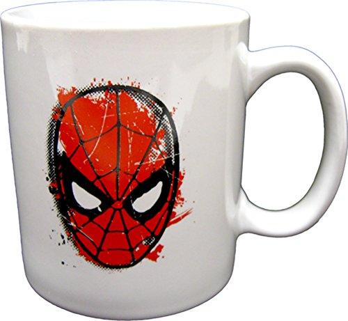 Mugs Marvel Extreme Spiderman Face Mug, 12-Ounce, White