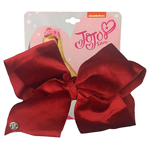 Nickelodeon Jojo Siwa Velvet Bow Hair Costume, Red