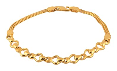 753d1d7c6 Image Unavailable. Image not available for. Colour: Bhima Jewellers 22Kt  Yellow Gold Bracelet For Women