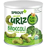 Sprout Organic Baby Food, Sprout Organic Curlz Toddler Snacks, Broccoli, Plant Powered, Gluten Free, USDA Certified Organic, Nothing Artificial, 1.48 Ounce Canister (Pack of 1)