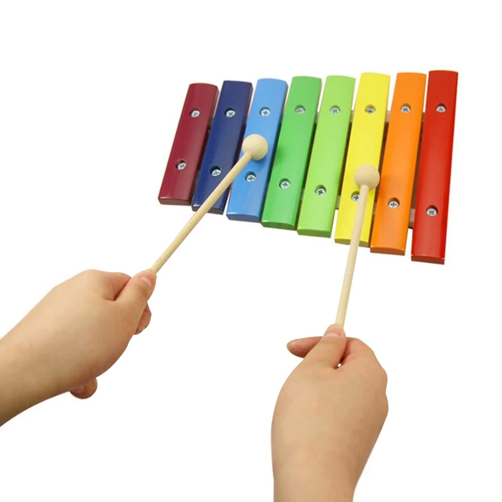 Baidercor 8 Tones Wooden Xylophone Percussion Musical Toys