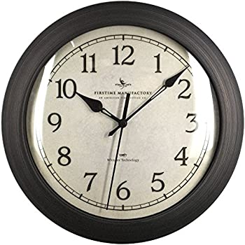 Amazon Com Slim Wall Clock With Whisper Technology 11