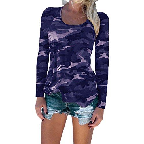 fonc Chemise Bleu femme pour de camouflage nZgaqgzY