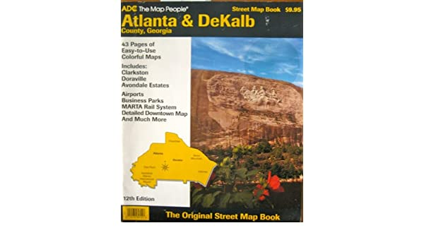 Dekalb Zip Code Map.Atlanta Dekalb County Georgia Street Map Book Adc Firm