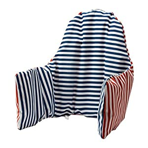 Ikea Antilop Highchair Cushion & Cover - Reversible with 2 colours red or blue (Model: PYTTIG)