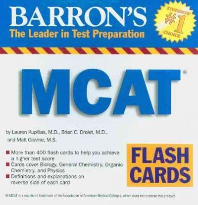 Amazon Barrons Mcat Flash Cards Other Products Everything Else
