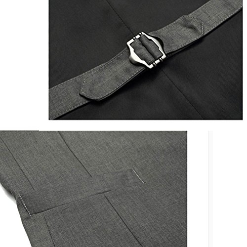 High Business Quality Vest neck Zhuhaitf Down Single Button Suit Jacket Mens Gray Breasted V respirable wz1q1WpYI