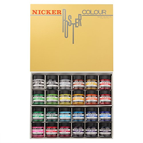 Knicker poster color in bottle 24 color set (japan import) by Knicker paint