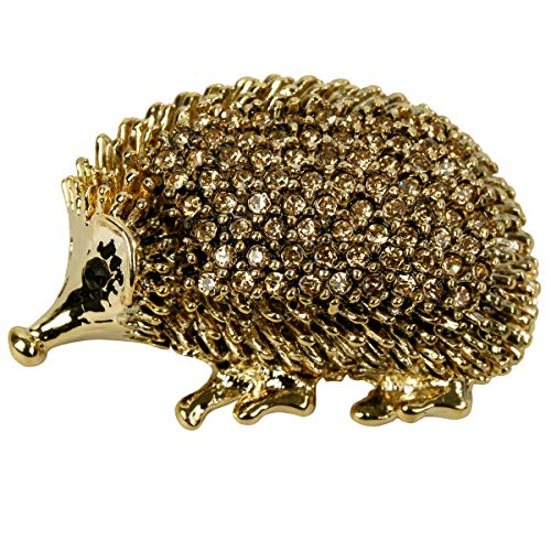 Hiddleston Cute Gold Baby Hedgehog Porcupine Critter Animal Brooch Pin Broach Easter Party Brooch Pin Gift Costume Accessories for Women Teen Girl -