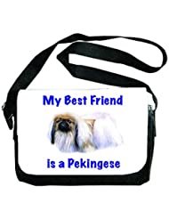 My Best Friend is Pekingese Messenger Bag