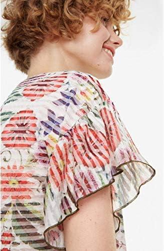 Desigual T Shirt Karina Blanc 19SWTK25 / Référence : 19SWTK25 1000: Odzież