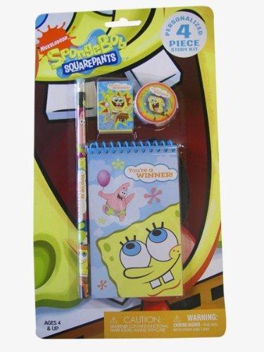 Spongebob Squarepants Stationery -4 pcs Spongebob Study Kit (Squinkies Spongebob)