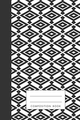 - Composition Book: Navajo Tribe Native American Inspired Traditional Pattern, Blank Journal, Notebook, 120 pages, cream colored paper
