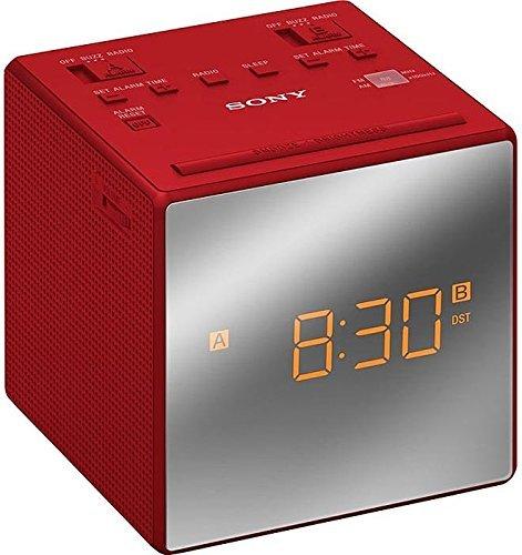 Sony ICFC1TR - Radio Reloj, Alarma Dual, Rojo