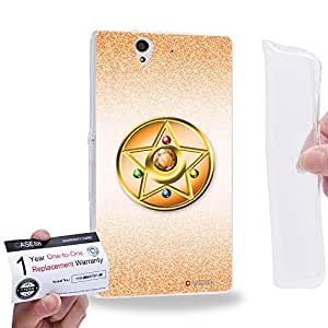 Case88 [Sony Xperia Z] Gel TPU Carcasa/Funda & Tarjeta de garantía - Sailor (Series Moon) Venus Compact Case Art1431