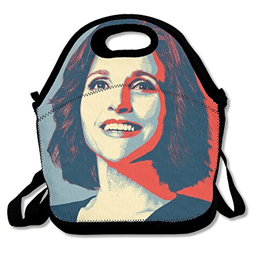 Black Veep Unisex Lunch Bag For Woman Man Kid