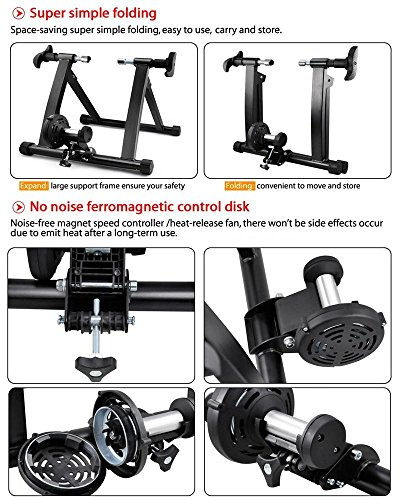 Yaheetech Premium Steel Bike Bicycle Indoor Exercise Bike Trainer Stand by Yaheetech (Image #5)