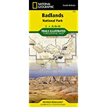 Badlands National Park: South Dakota, USA Outdoor Recreation Map