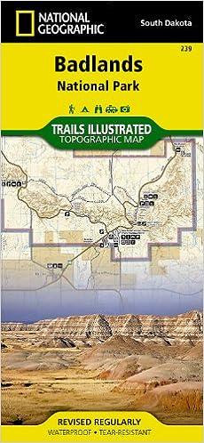 Badlands National Park: South Dakota, USA Outdoor Recreation Map ...