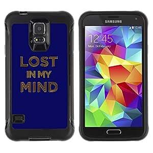 Suave TPU GEL Carcasa Funda Silicona Blando Estuche Caso de protección (para) Samsung Galaxy S5 V / CECELL Phone case / / Lost In My Mind Typography /