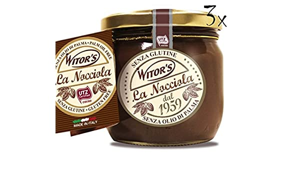 Wisors 3x Witors La Nocciola Gianduia Chocolate & Hazelnut Spread 360g Ready to Eat!: Wisors: Amazon.es: Alimentación y bebidas
