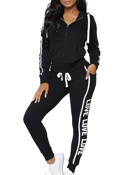 Amazon.com: Suéter para mujer con diseño de rayas con letras ...