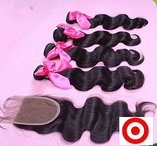 Junhair 4Pcs/lot Virgin Mongolian Remy Human Hair 3 Bundles Hair Weaves Mixed Length With 1Pc 4x4 Closure Body Wave Natural Color by DaJun