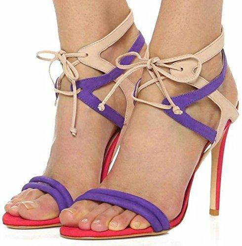 Sandalias de tacón alto de la Cruz Correa sandalias de tacón alto sandalias en Roma Picture color