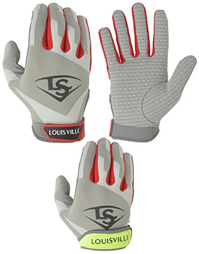 Louisville Slugger Women's Xeno Batting Gloves, Scarlet, X-Large