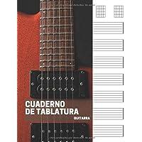 Cuaderno de tablatura guitarra: 7 tabs por página.
