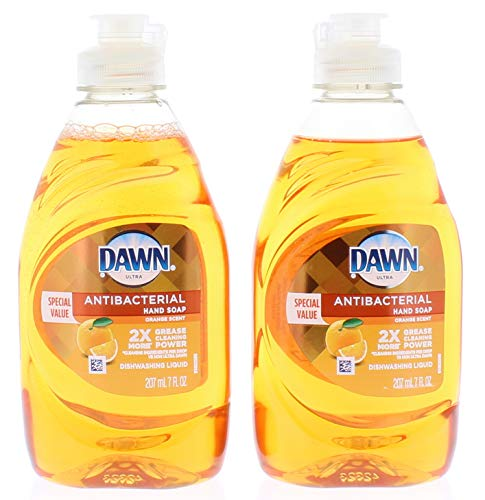 2 Pk. Dawn Ultra Antibacterial Orange Scent Dishwashing Liquid 7oz. (14 Fl. Oz Total)