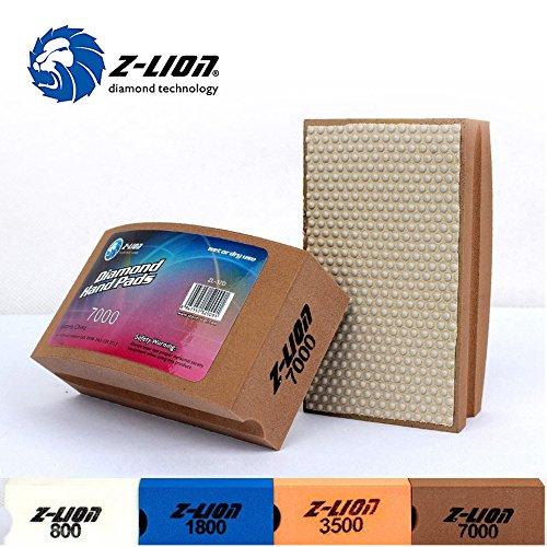 7000 : Z-Lion 100x55mm Hand Diamond Polishing Pad Resin Arc