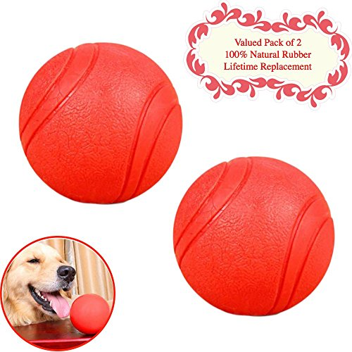 Bojafa Puppy Small Medium Large Dog Toys Balls Solid  Rubber