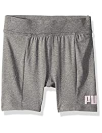 Puma - Pantalones Cortos de Ciclismo para niña
