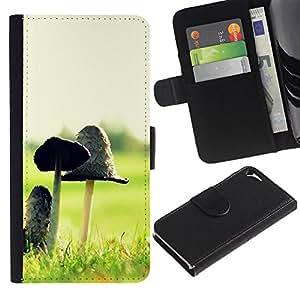Ihec-Tech / Flip PU Cuero Cover Case para Apple Iphone 5 / 5S - Plant Nature Forrest Flower 12