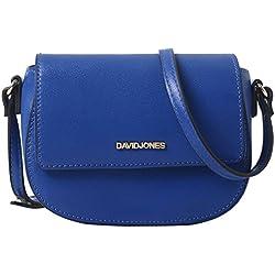 DAVIDJONES Synthetic Leather Mini Crossbody Bag Saddle Bag