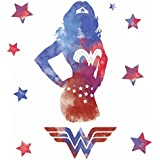 RoomMates RMK3602GM Wonder Woman Watercolor Peel and Stick Giant Wall Decals