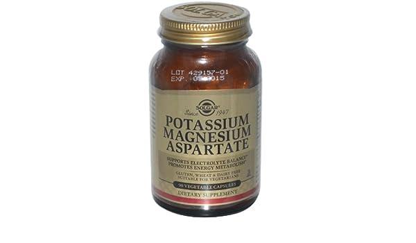 Solgar - Aspartate del magnesio del potasio - 90 cápsulas vegetarianas: Amazon.es: Salud y cuidado personal