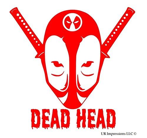 Film Quality Iron Man Costume (Red Deadpool Dead Head Decal Vinyl Sticker Cars Trucks Walls Laptop RED 5.5 In URI346)