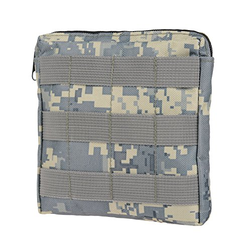 MOLLE Pouches - Compact Water-resistant Multi-purpose Tactical EDC Utility Gadget Gear Hanging waist Bags(Square Pouch ,ACU )