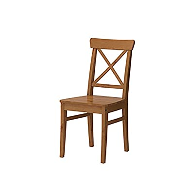 Amazon.com: LHcy Silla de comedor de madera, silla de casa ...