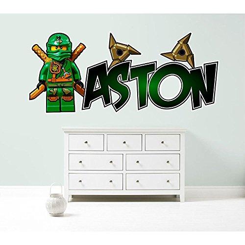 LEGO NINJAGO LLOYD personalized customized children's wall sticker decal art mural bedroom 3 SIZE OPTIONS (Medium - 100cm -