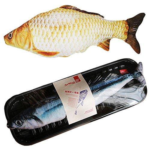 Creation Core Catfish Cushion Pillow Animal Cat Toy Fish Toy