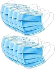 TVMALL 3-Layer Disposable Medical Masks Dustproof/Surgical Masks Universal Breathable Folding Masks Latex-Free with Elastic