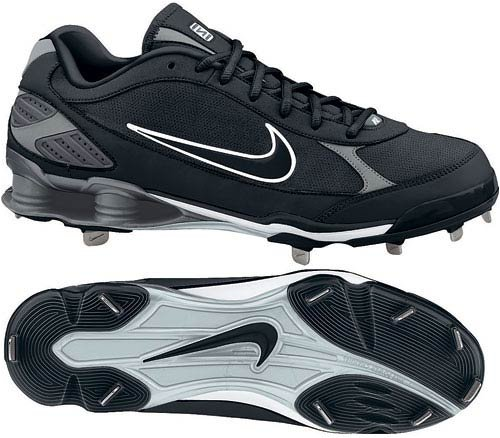317029 Shox Fuse Metal Adult Baseball Cleat Low - Black - 10 by