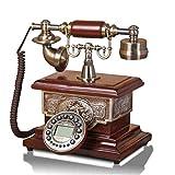 Telephones Backlight Hands-Free Antique Time Calendar Display Phone Home European Retro Fixed Phone Fashion Landline Retro Phone (Color : 2, Size : B)