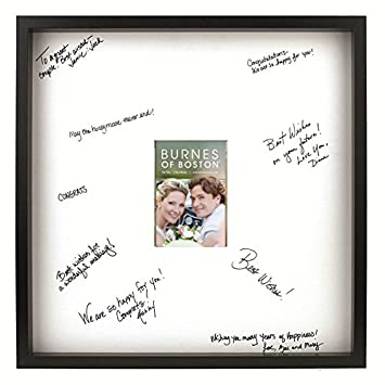 burnes of boston black frame with a signature mat 20 inch by 20