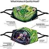 2 Pcs Rick & Morty Reusable Face Cover Anti Dust