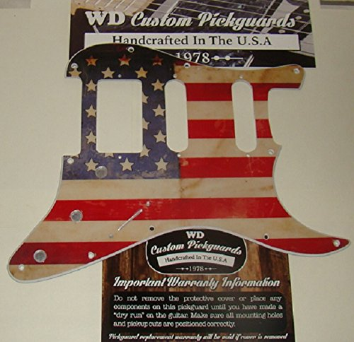 (American Flag Relic Replacement Pickguard For Stratocaster, For Humbucker & Two Single Coil)