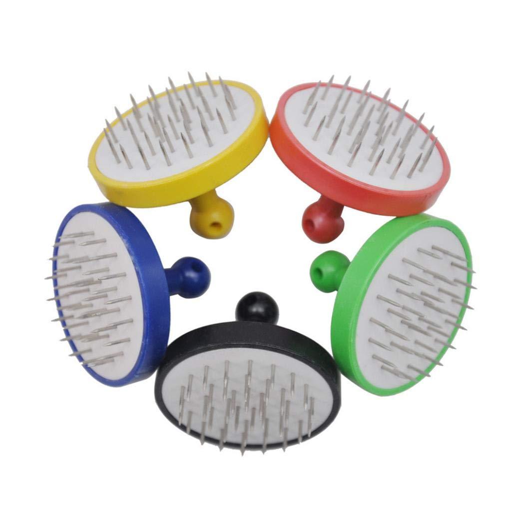 TuHao Juego de accesorios de pl/ástico y metal con agujeros redondos para el agujero de la hoja color al azar